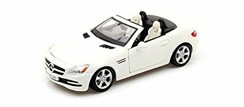 maisto-2011-mercedes-benz-slk-convertible-1-24-scale-diecast-model-car-white