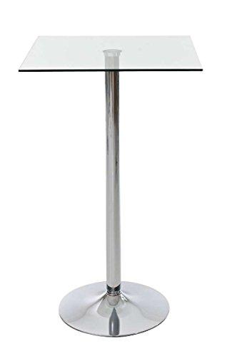 CLP-stabiler-Stehtisch-mit-Glasplatte-eckig-60-x-60-cm-Hhe-105-cm-ideal-fr-die-Gastronomie-klarglas