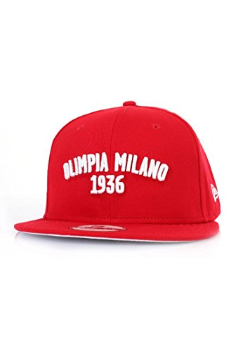 New Era Olimpia Milano 9Fifty Cap - Red | Free UK Delivery-S/M