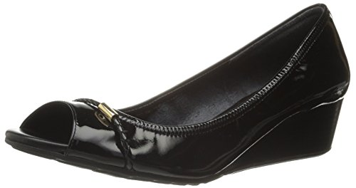 Cole Haan Women's Tali OT Det 40 Wedge Pump,Black Patent,8 B US (Cole Haan Wedge compare prices)