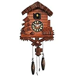 Hand Carved Satinwood Quartz Cuckoo Wall Clock