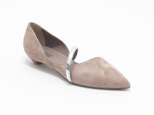 Vic scarpa donna ballerina in camoscio e pelle laminata colore cipria nr 36