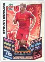 Match Attax 20122013 Steven Gerrard Hundred 100 Club Liverpool 1213 by Topps