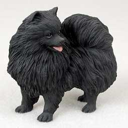 Pomeranian Dog Figurine - Black