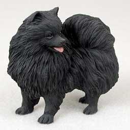 Pomeranian Dog Figurine - Black