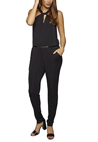 APART Fashion Damen Straight Leg Jumpsuits 66653, Gr. 42, Schwarz