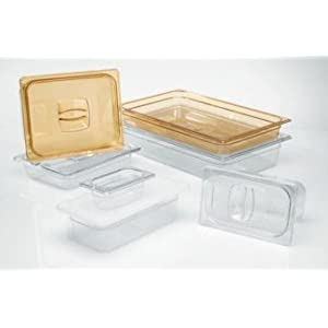 Rubbermaid Commercial Products FG206P00BLA 1/6 Size 2-1/2-Quart Hot Food Pan, Black