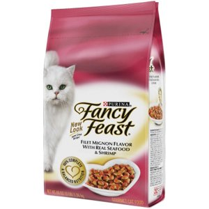 See Fancy Feast Dry Cat Food Filet Mignon with Real Seafood and Shrimp 3 lbs