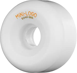 Buy Mini-Logo Skateboards A- 60mm 99A Skateboard Wheel, White by Mini-Logo Skateboards