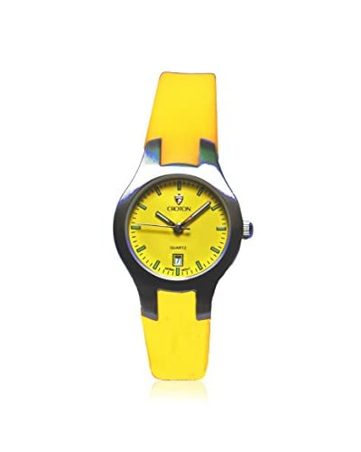 Croton Women's CA201052SSYL Yellow Rubber Watch