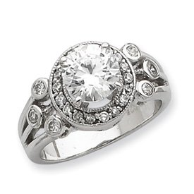Genuine IceCarats Designer Jewelry Gift Sterling Silver Cz Ring Size 7.00