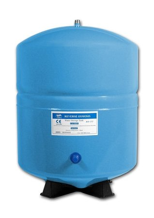 PA-E RO-132-BL Stainless Steel 4.5 Gallon Reverse Osmosis Storage Water Tank - Blue, 1/4