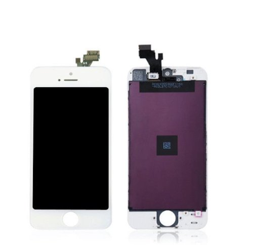 Flylinktech ® Fully Tested New Black Touch Screen Digitizer + Lcd Replacement Part - Complete Assembly For Iphone 5 5G (White)