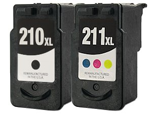 Compatible PG210 XL CL211 XL High Capacity 2-Pack Printer Ink Cartridge for CANON PG-210 CL-211 Black/Color Cartridges for PIXMA iP2702 MP240 MP250 MP270 MP280 MP480 MP490 MP495 MX320 MX330 MX340 Wireless MX350 Wireless