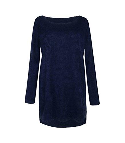 HowFitU Women's Side Zipper Loose Pullover Sweater Jumper Dress