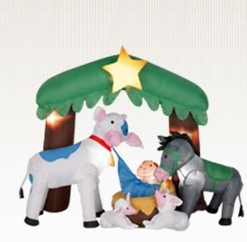 Christmas Nativity Scene Airblown Inflatable Outdoor Decoration