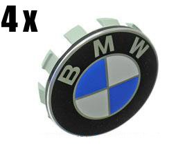BMW Wheel Center hub Caps w / Emblems (SET 4) for e36 e38 e39 e46 e53 e60 e61 e63 e64 e65 e66 e70 e71 e72 e82 e83 e85 e86 e88 e89 e90 e91 e92 e93 f01 f02 f07 (2008 Bmw Emblem compare prices)