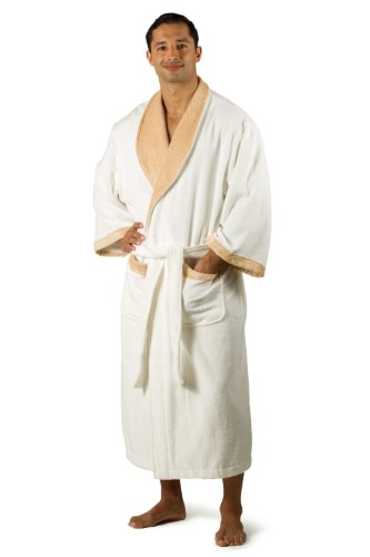 Terry Cloth Robe Bathrobe Men - Jupiter L/XL - Bamboo / Cotton Terry Cloth Plush Men's Robe. Valentines day gifts presents him men boyfriend husband Valentines day clothes clothing comfy soft robe good great gifts presents for dad white robe kimono sleeve robe top unique terry robe bathrobe. Jupiter 0069 L/XL