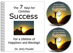 Bestselling Book & 2 CDs for Christian Success **** Book + Positive Prayer CD + Bible Verses of Victory CD - For a Lifetime of Happiness and Blessings!