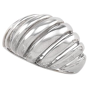 14K White Gold Metal Fashion Ring Size: 6