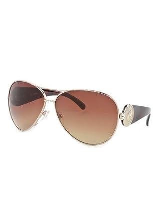 Aviator Sunglasses: Gold/Brown Gradient