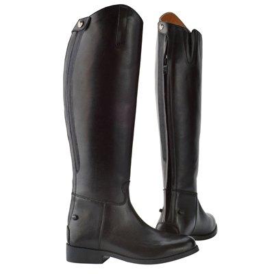 Saxon Equileather Ladies Dress Boot With Elastic - 8 Regular - Black