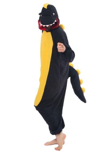 Black Dinosaur Kigurumi - Adult Costume front-744421