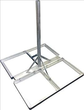 tk9k support de de montage sur toit pour antenne parabolique avec avec finition galvanis e. Black Bedroom Furniture Sets. Home Design Ideas