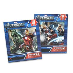 100 Piece Avengers Puzzle (Assorted) - Childrens Intermediate Puzzles - 1