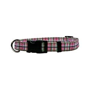 Yellow Dog Design Martingale Collar, Small, Tartan Pink