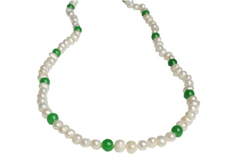 Lilly Rocket Pearl And Jade Necklace