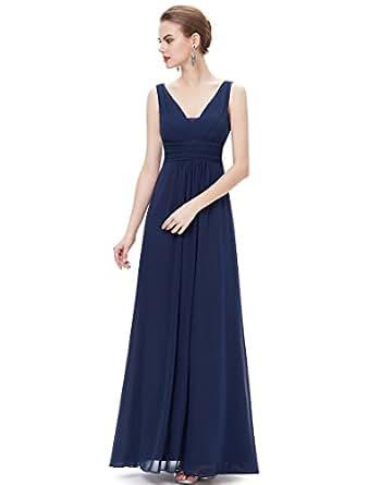 Ever Pretty Damen Doppel V-Ausschnitt Lange Abendkleider ...