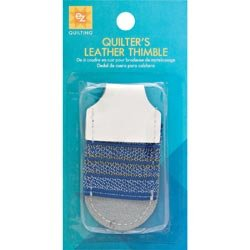 Wrights Quilter's Leather Thimble Adjustable 670014; 6 Items/Order