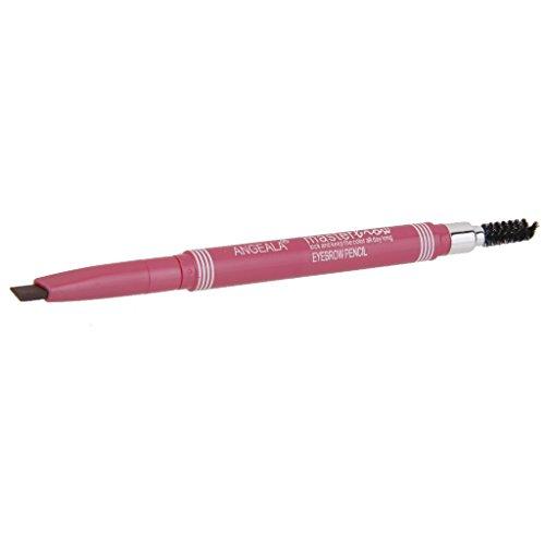 Crayon de Sourcil Automatique Etanche avec Brosse Double Extrémité Café
