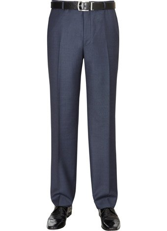 Austin Reed Contemporary Fit Blue Sharkskin Trousers REGULAR MENS 38
