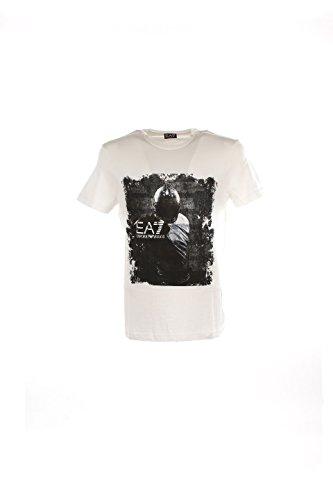 Emporio Armani EA7 t-shirt maglia maniche corte girocollo uomo bianco EU M (UK 38) 6XPTD6 PJ30Z 1100