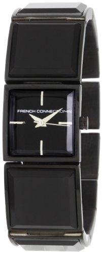 French Connection Women's FC1018B Stainless Steel Square Case Watch