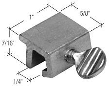 Crl Window Thumbscrew Lock, Aluminum - Bulk (100 Pack) front-846892