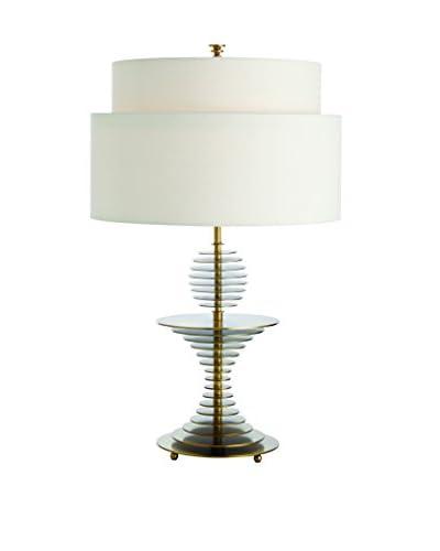 Arteriors Home Otto Lamp, Antique Brass/Off White