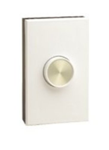 Leviton 61000-W 1000W, Single-Pole, Van Gogh Electro-Mechanical Incandescent Rotary Dimmer, Narrow Fin, White