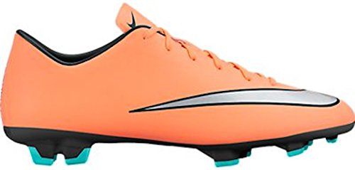Men's Nike Mercurial Victory V Soccer Cleat Bright Mango/Metallic Silver Size 10 M US
