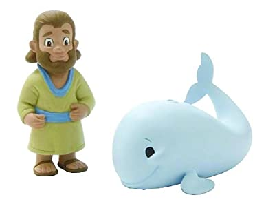 Jonah & The Big Fish 2 Piece Figurine Playset by BibleToys- Christian Faith Based Toys