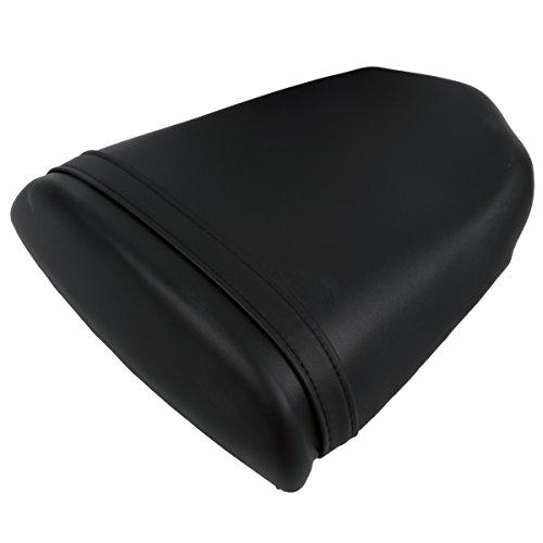 XFMT Black Motorcycles Leather Rear Pillion Passenger Cushion Seat For Suzuki GSX-R600 GSXR 750 600 K4 2004 2006 2005 (2004 Gsxr 600 Seat Cowl compare prices)