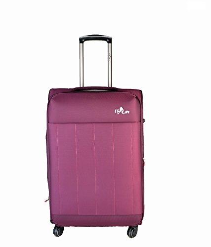 Flylite 526- 24 Inches 4 Wheel Luggage Trolley (Purple) (Black)