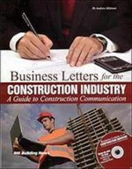Business Letters for the Construction Industry: A Guide to Construction Communication [With CDROM] - BNI Publications - 1557016097 - ISBN: 1557016097 - ISBN-13: 9781557016096
