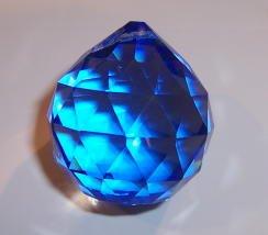 20mm Blue Crystal Ball Prisms