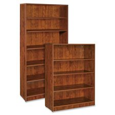 Lorell 4-Shelf Bookcase, 36 by 12-1/2 by 48-Inch, Cherry 48