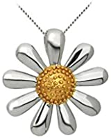 Baby Daisy Pendant Sterling silver with gold plated centre, in a presentation box