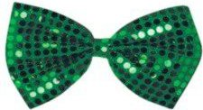 St Patrick's Day Green Glitz 'N Gleam Bow Tie 4¼in. x 7in. Pkg/1