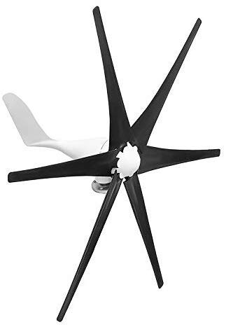 YUYUKUAILAI 5000W Wind Generator 12V/24V/48V 6 Blade Black Wind Turbines Horizontal Home Powers Windmill Energy Turbines,48 (Color: 48)
